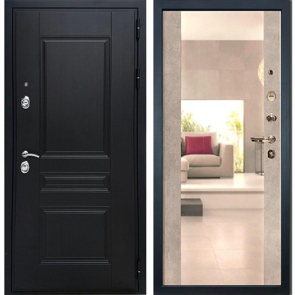 Входная дверь REX Премиум H венге Сб -16 Бетон светлый (с зеркалом )