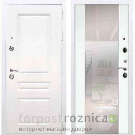 Входная дверь REX Премиум H белая сб-16 белый софт (с зеркалом)