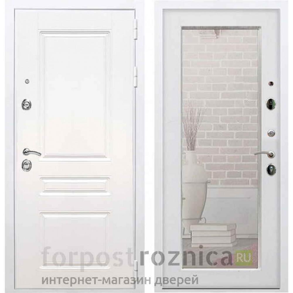 Входная дверь REX Премиум H белая сб-16 Ясень белый (Трехконтурные )