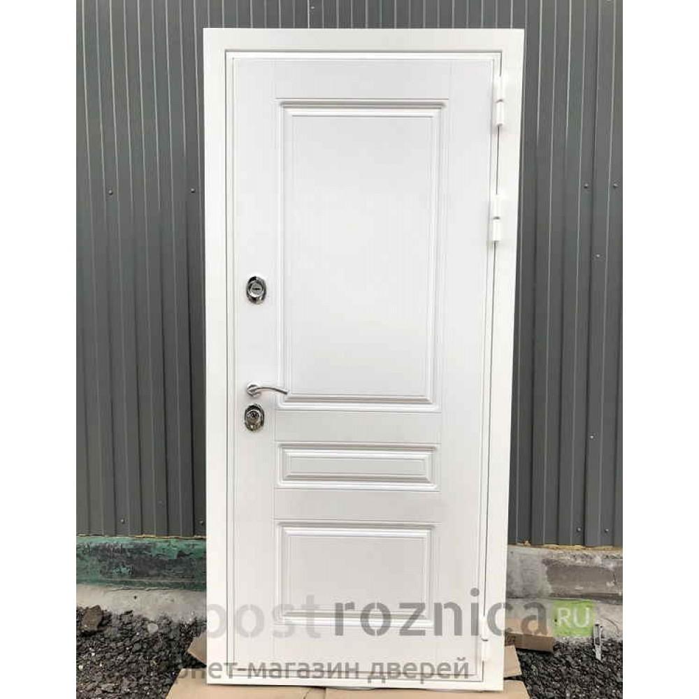 Входная дверь REX Премиум H белая ФЛ-316 патина золото