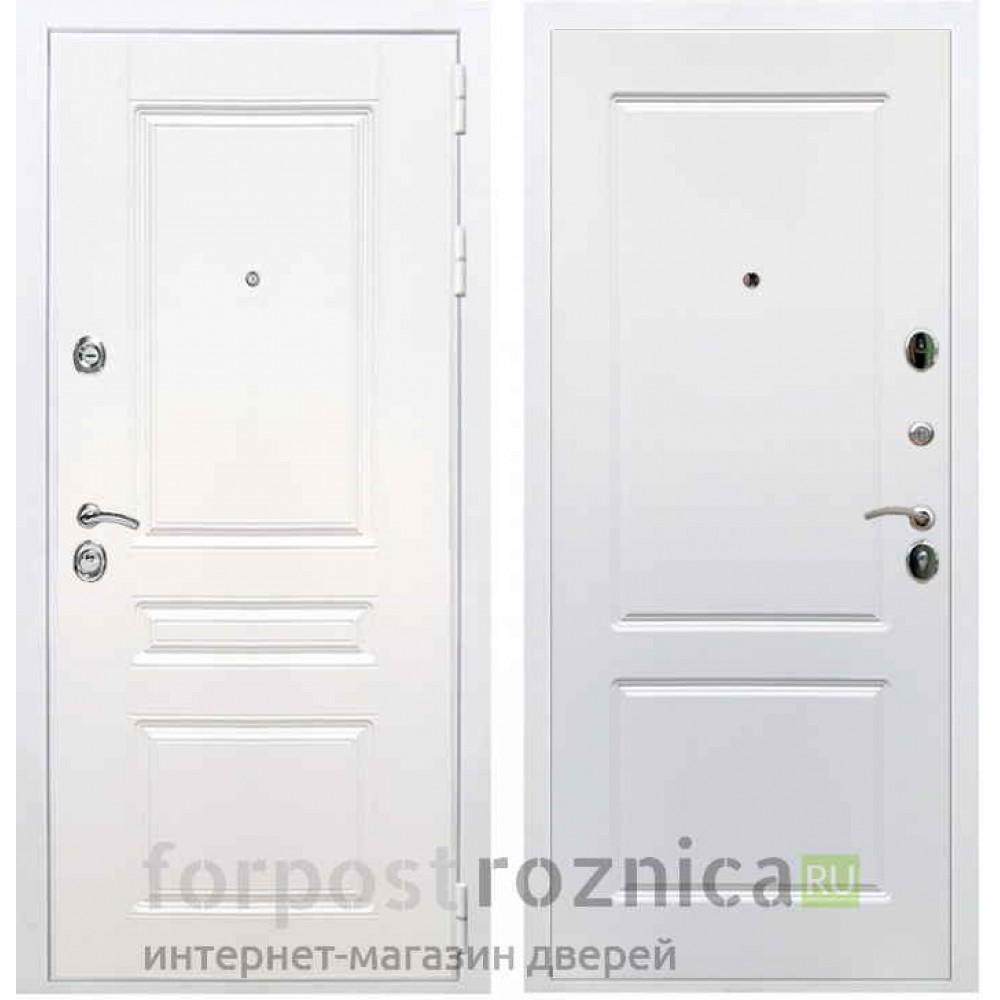 Входная дверь REX Премиум H белая ФЛ-117 силк сноу