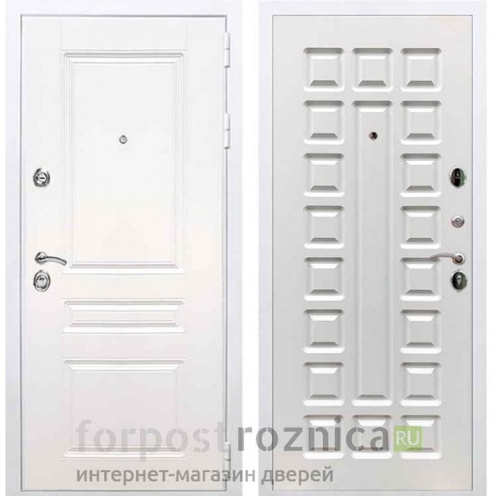 Входная дверь REX Премиум H белая ФЛ-183 белый ясень