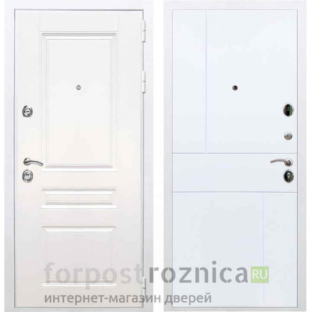 Входная дверь REX Премиум H белая ФЛ-290 белый софт