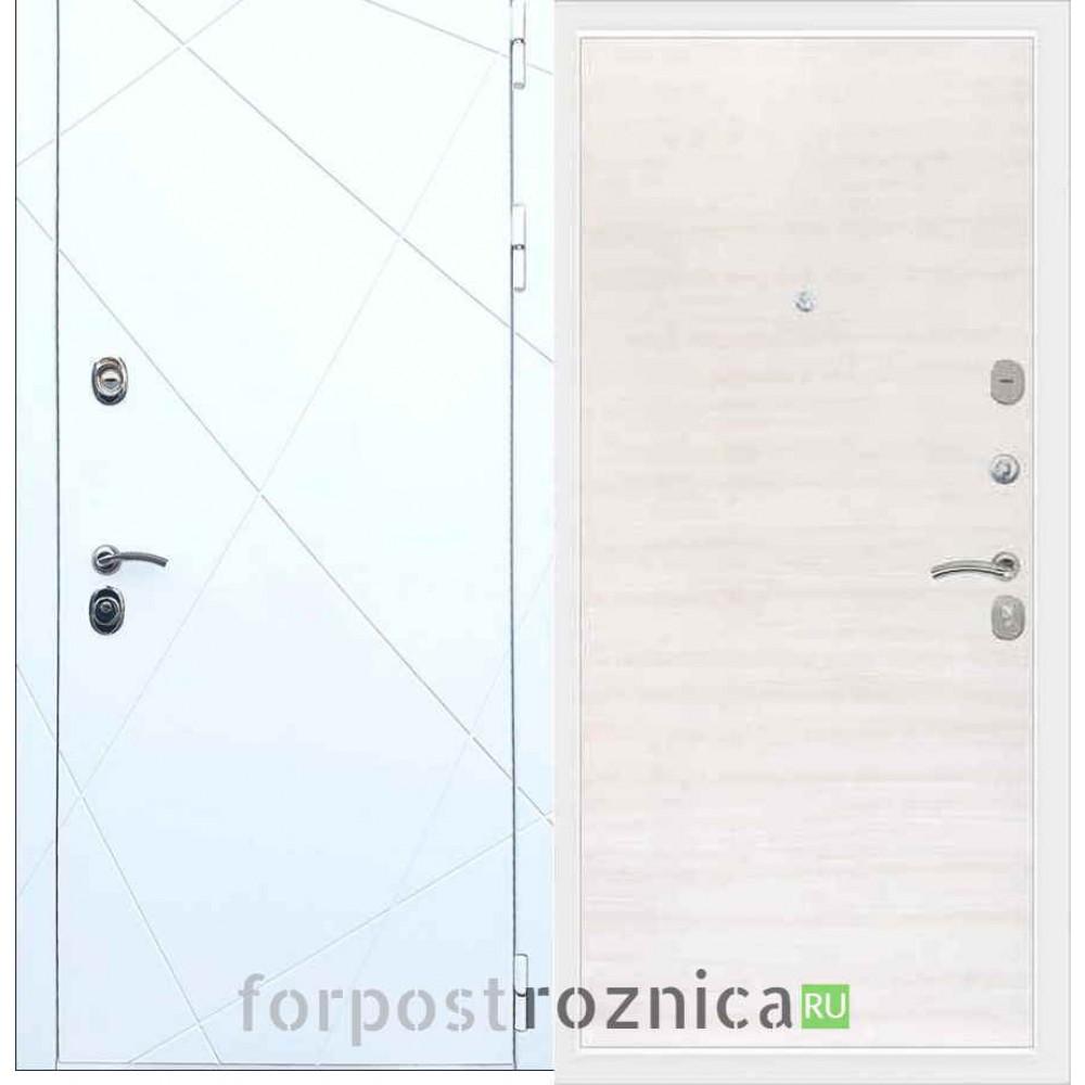 Входная дверь REX 13  Акация белая (Гладкая )