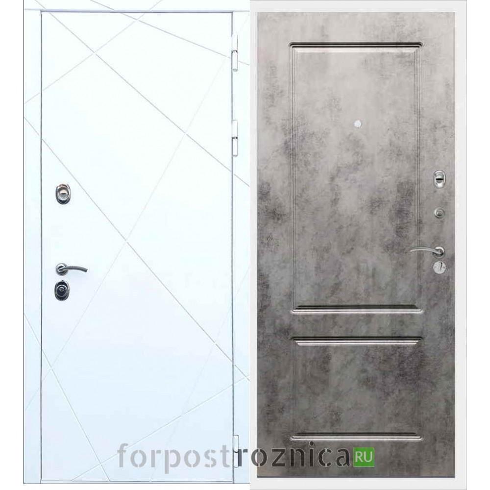 Входная дверь REX 13 ФЛ-117 Бетон темный