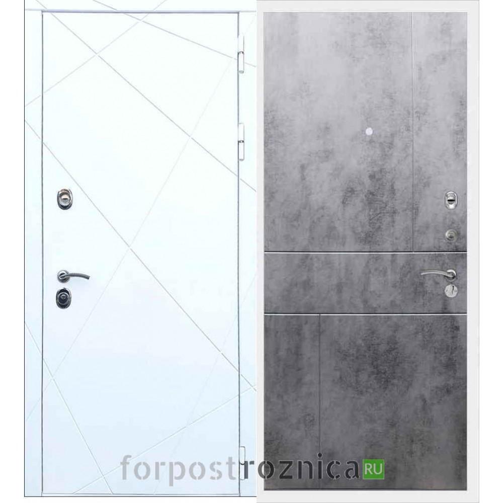 Входная дверь REX 13 ФЛ-290 Бетон темный