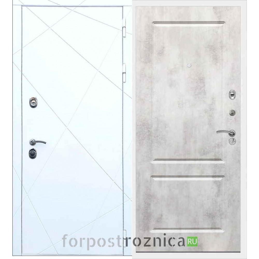 Входная дверь REX 13 ФЛ-117 Бетон светлый