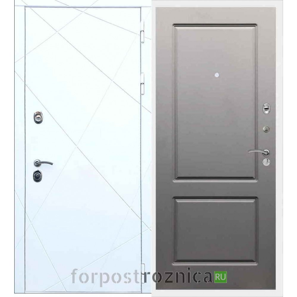 Входная дверь REX 13 ФЛ-117 Грей Софт (Серый светлый)