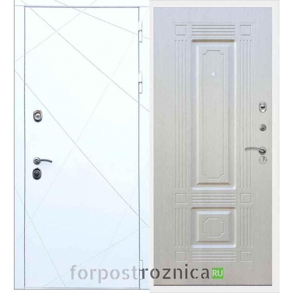 Входная дверь REX 13 ФЛ-2 Лиственница бежевая