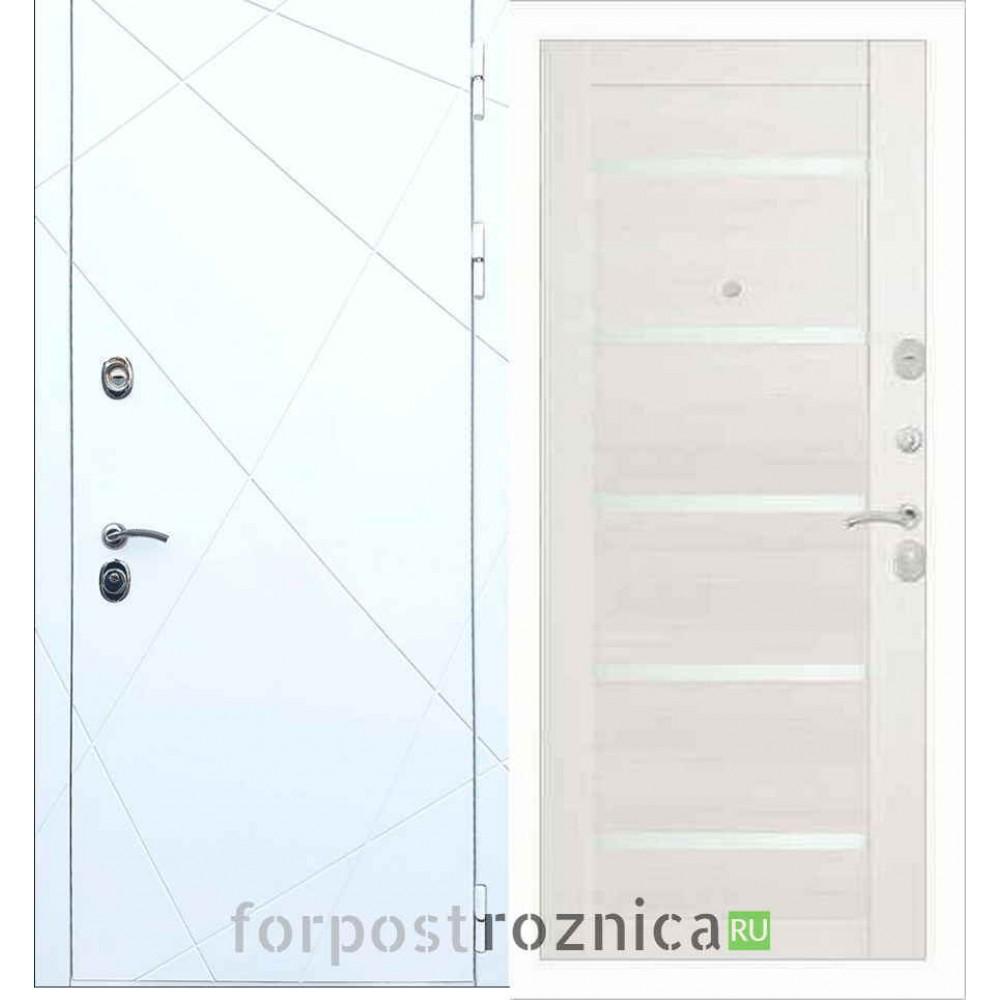 Входная дверь REX 13 СБ-14 Лиственница бежевая (со стеклом)