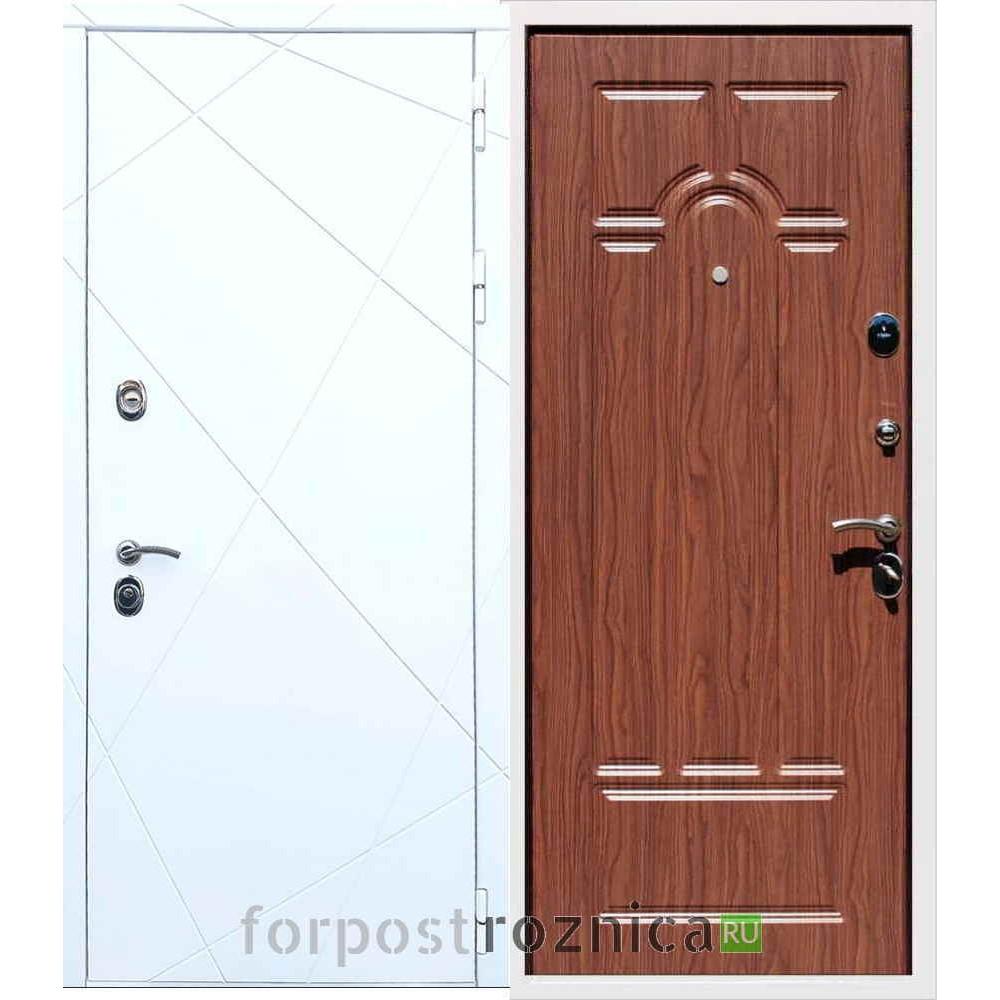 Входная дверь REX 13 ФЛ-58 Орех тисненый
