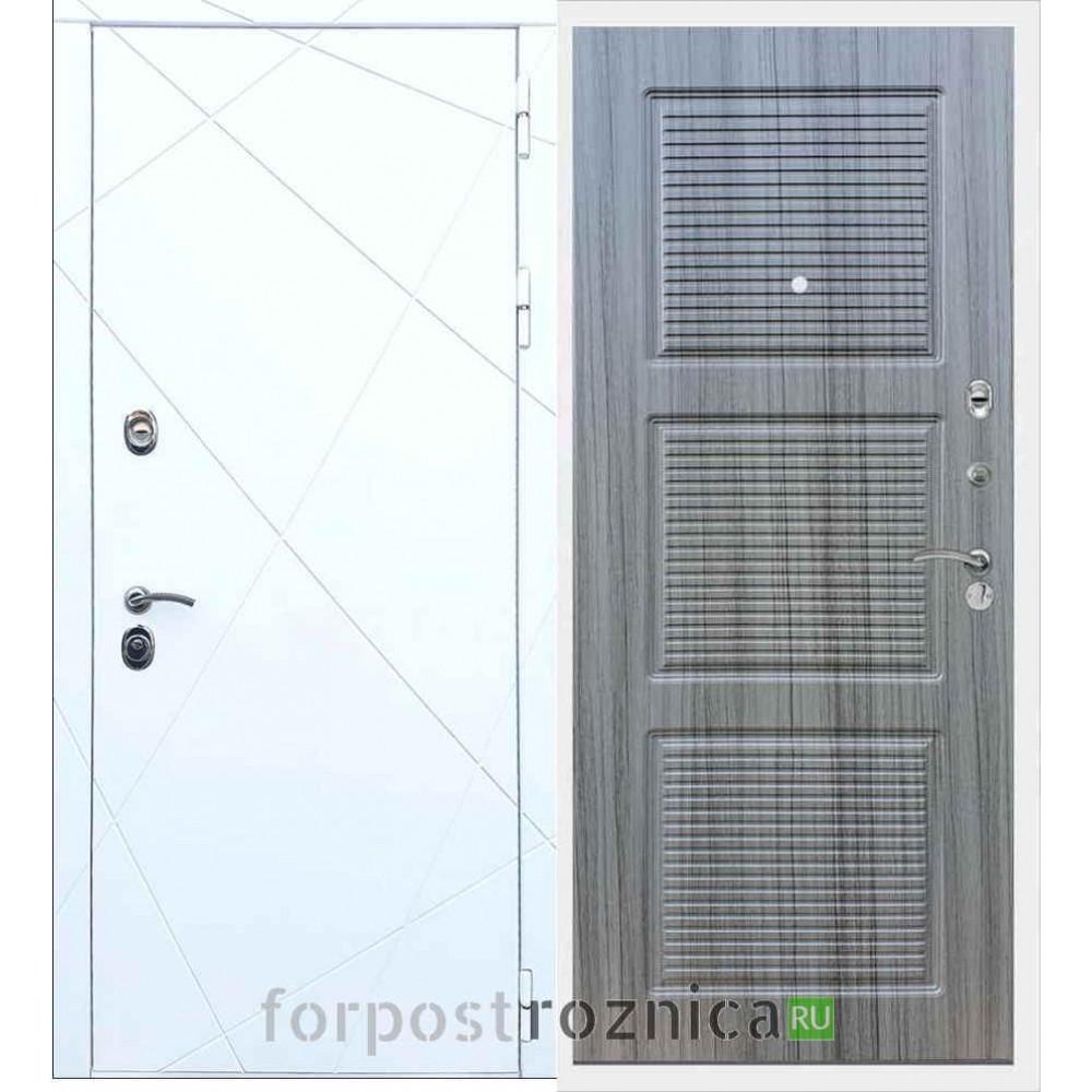 Входная дверь REX 13 ФЛ-1 Сандал серый
