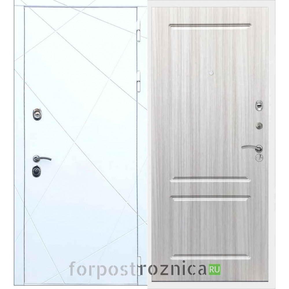 Входная дверь REX 13 ФЛ-117 Сандал белый