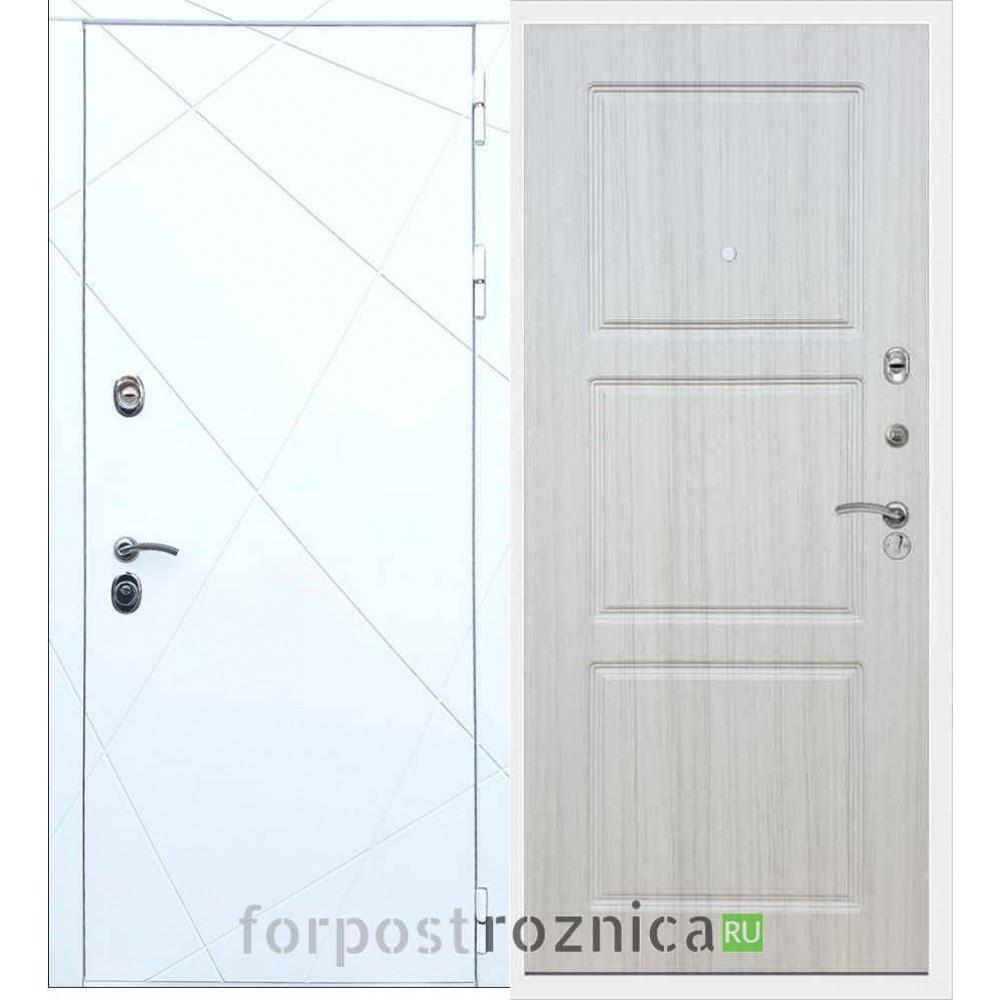 Входная дверь REX 13 ФЛ-3 Сандал белый