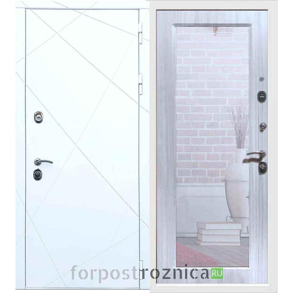 Входная дверь REX 13 Пастораль Сандал белый
