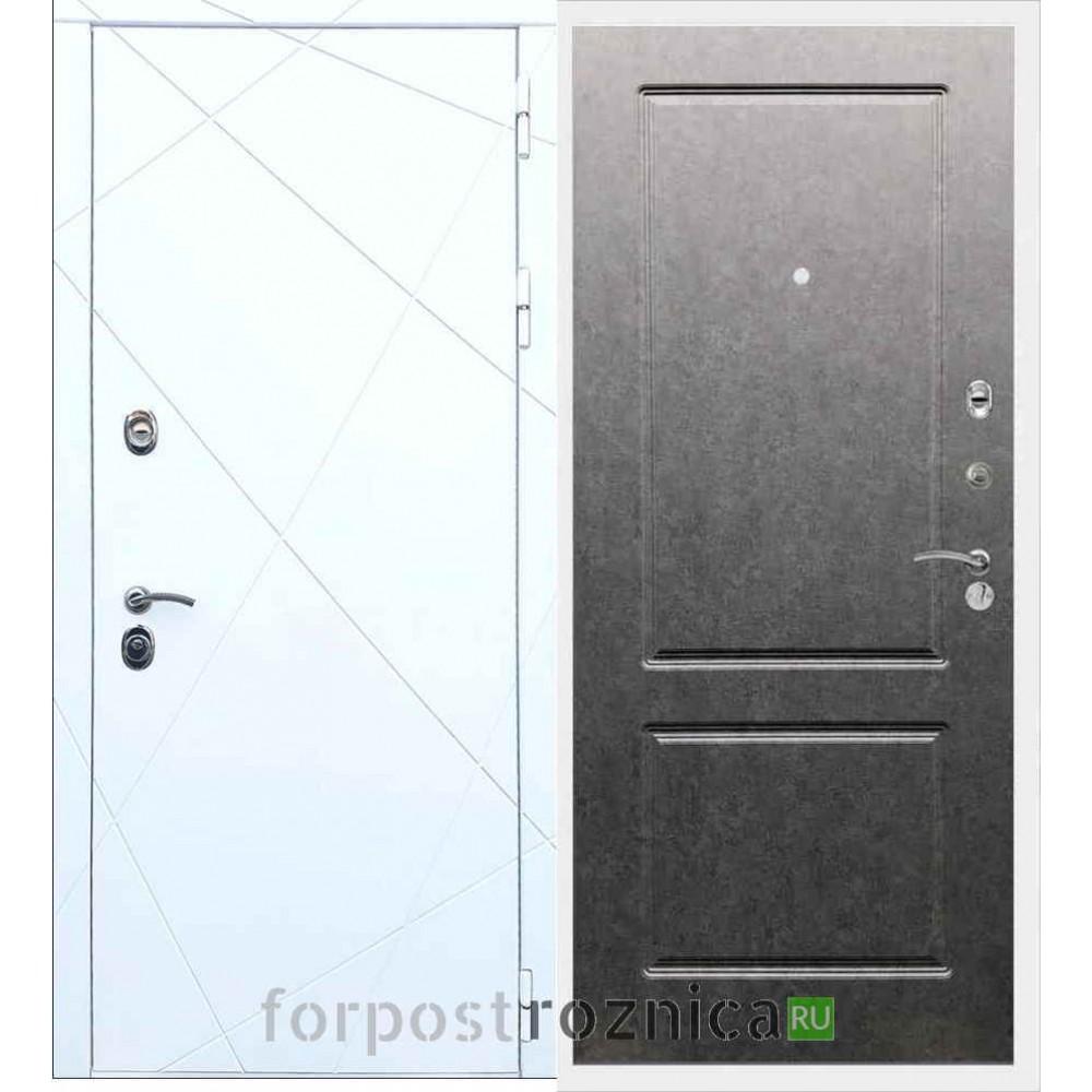 Входная дверь REX 13 ФЛ-117 Штукатурка графит
