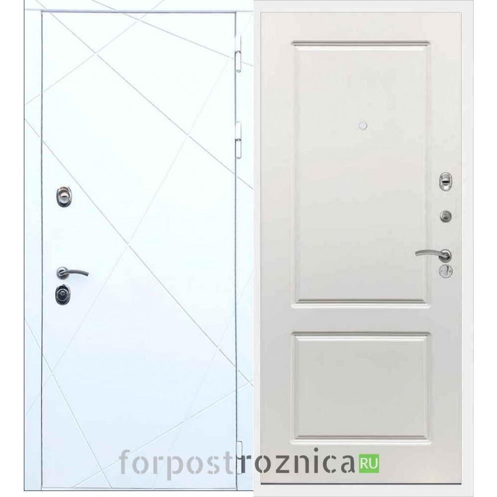 Входная дверь REX 13 ФЛ-117 Силк сноу