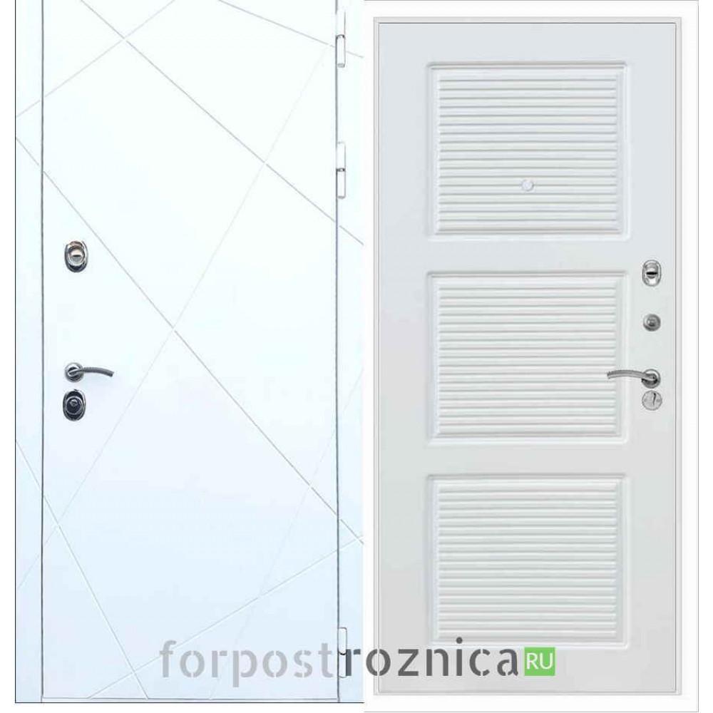 Входная дверь REX 13 ФЛ-1 Силк сноу
