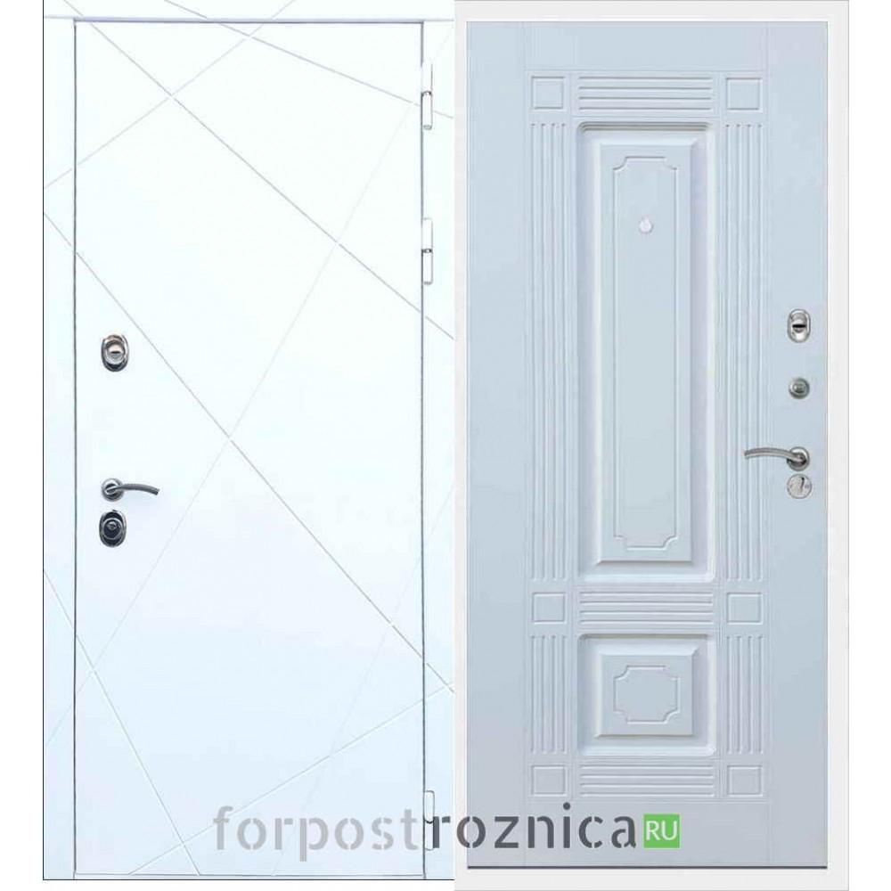 Входная дверь REX 13 ФЛ-2 Силк сноу