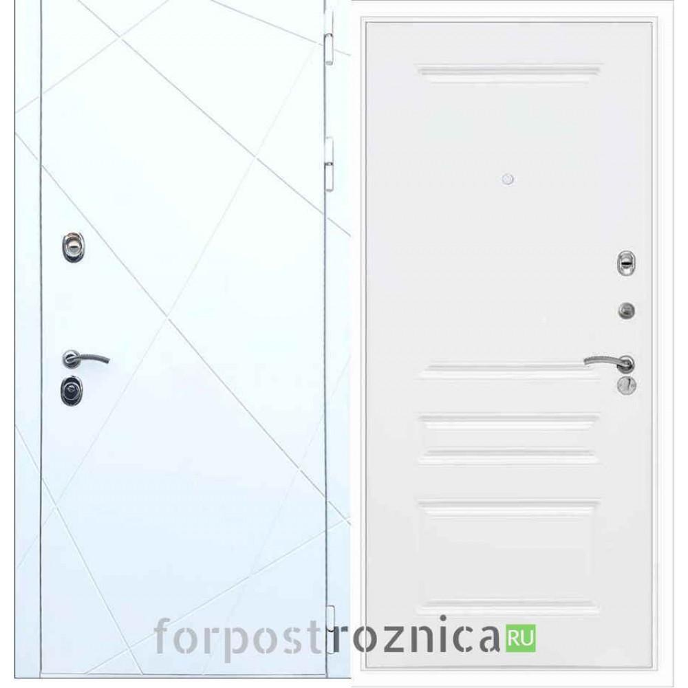 Входная дверь REX 13 ФЛ-243 Силк сноу