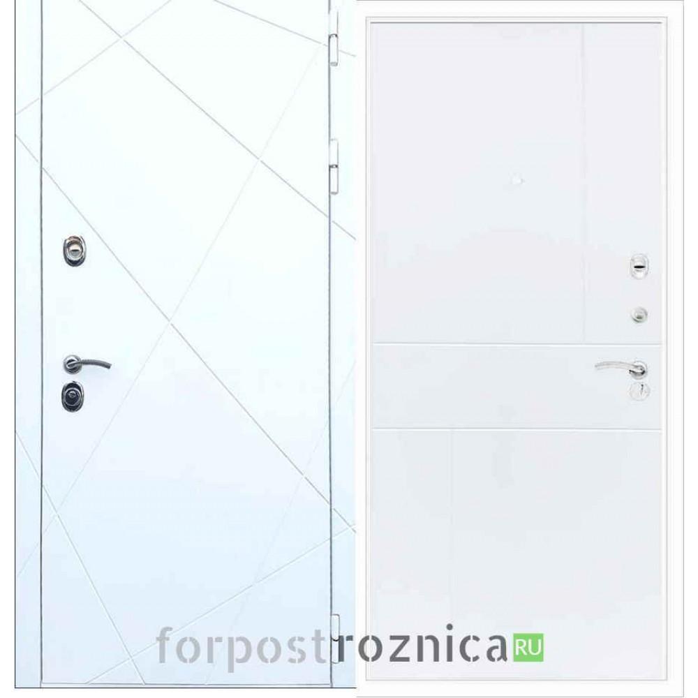 Входная дверь REX 13 ФЛ-290 Силк сноу
