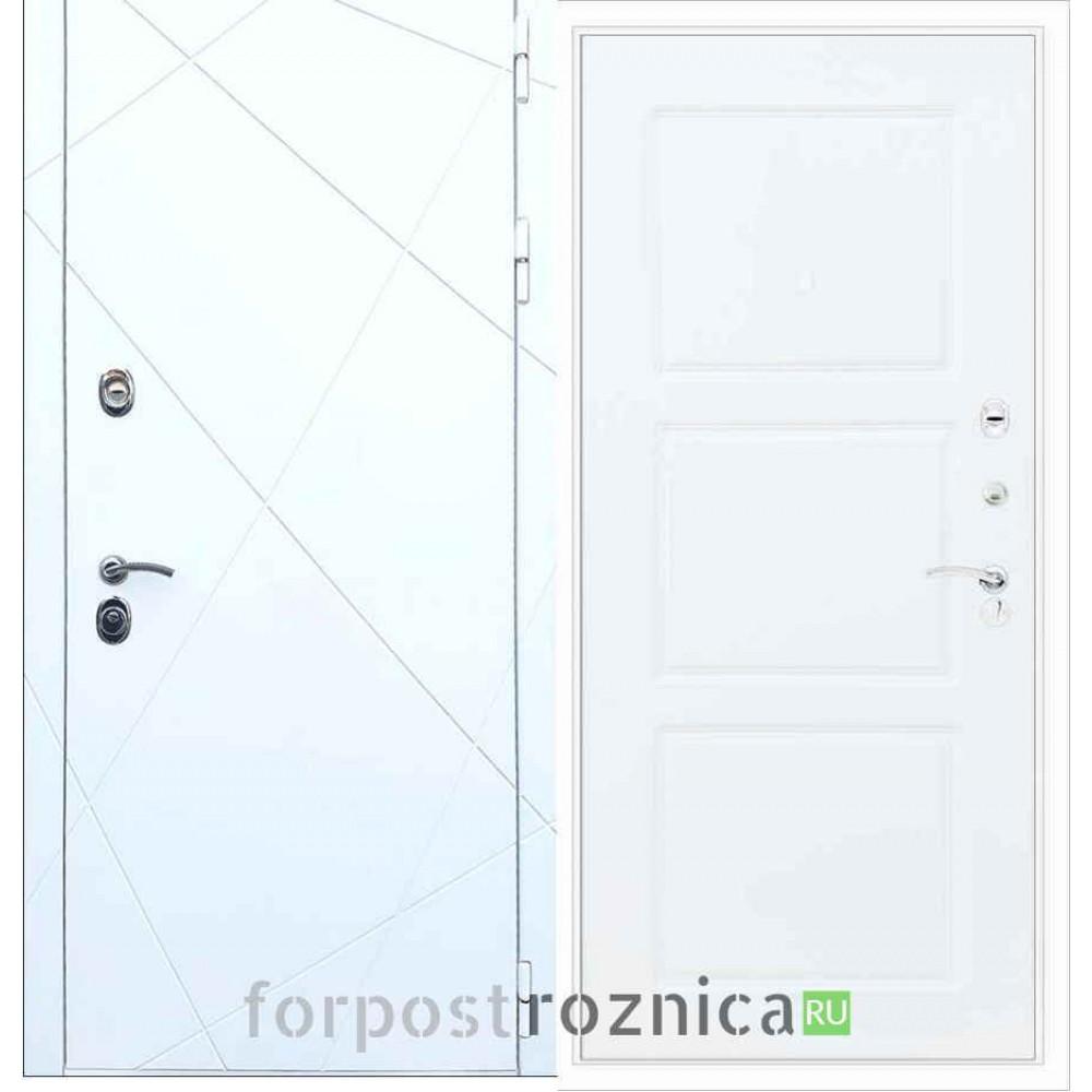 Входная дверь REX 13 ФЛ-3 Силк сноу