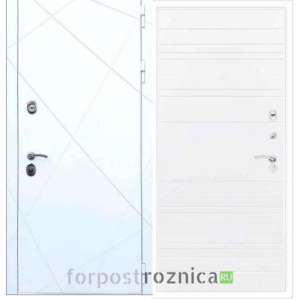 Входная дверь REX 13 Line Силк сноу