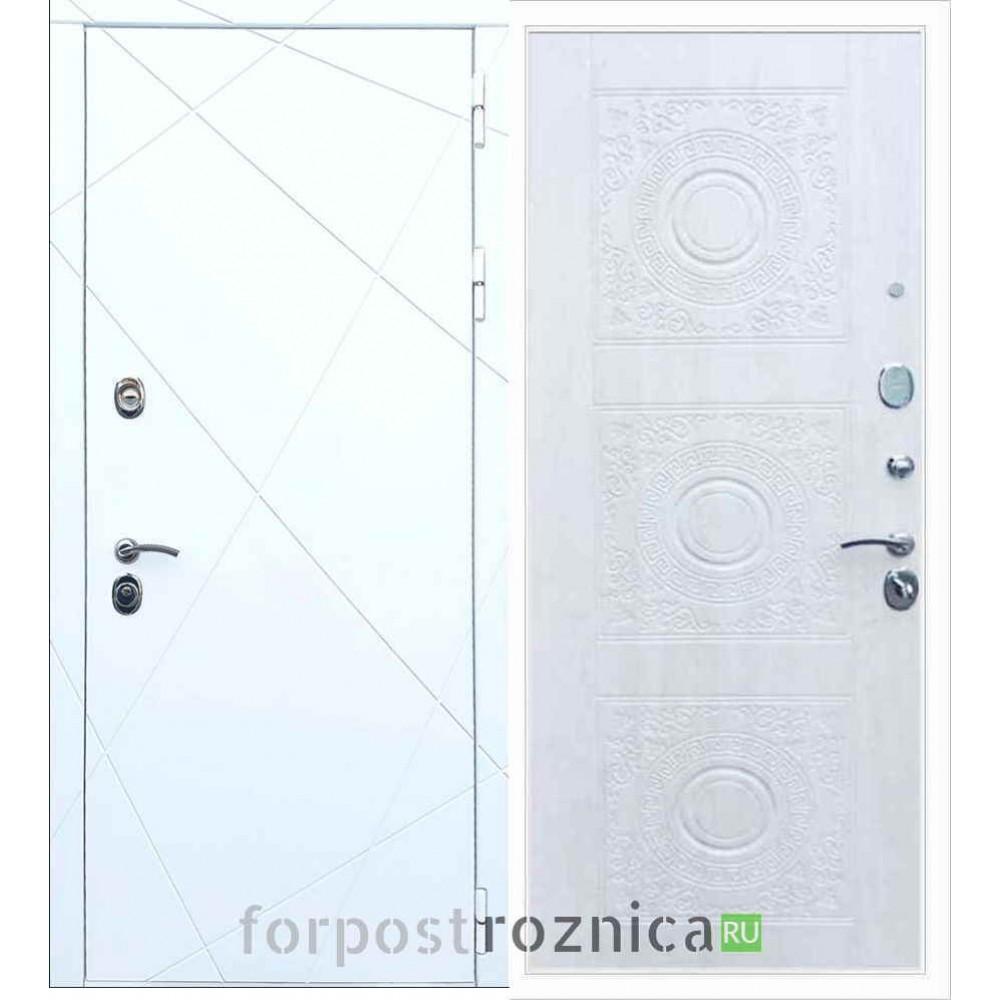 Входная дверь REX 13 Д-18 Сосна белая