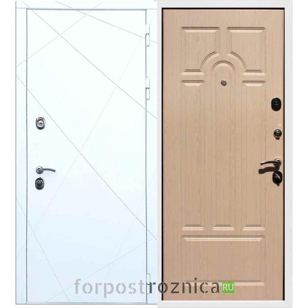 Входная дверь REX 13 ФЛ-58 Беленый дуб