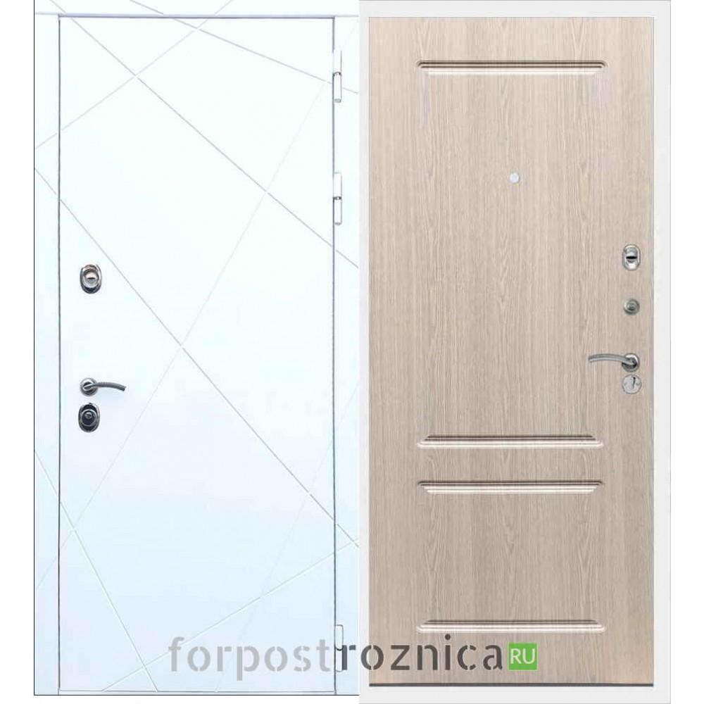 Входная дверь REX 13 ФЛ-117 Беленый дуб