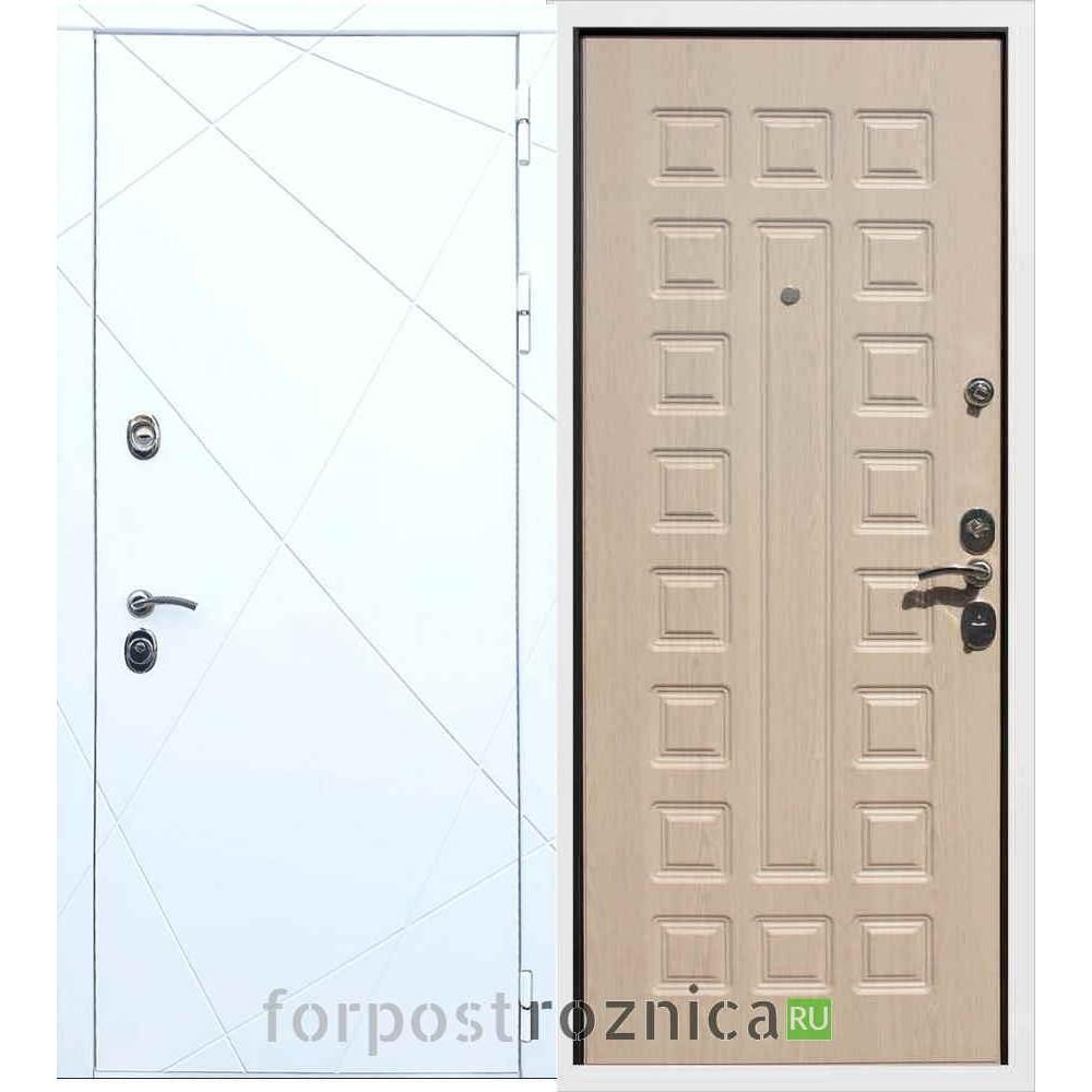 Входная дверь REX 13 ФЛ-183 Беленый дуб