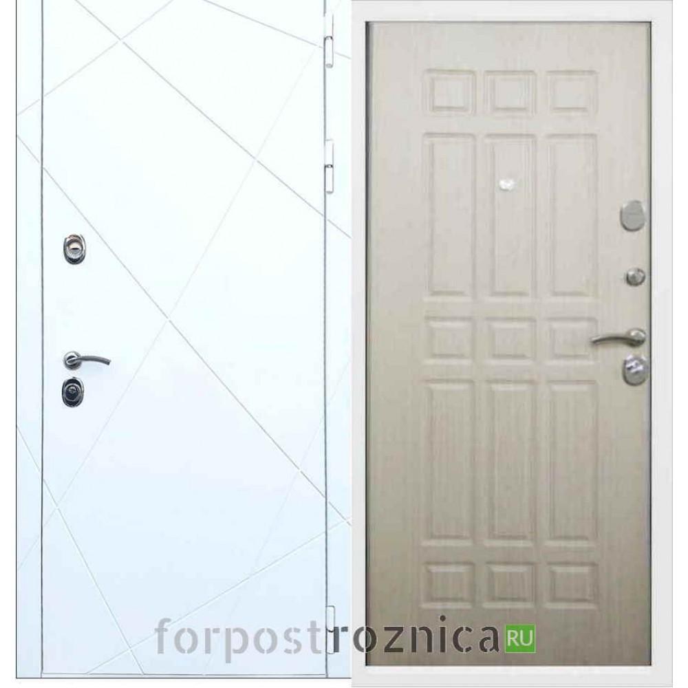 Входная дверь REX 13 ФЛ-33 Беленый дуб
