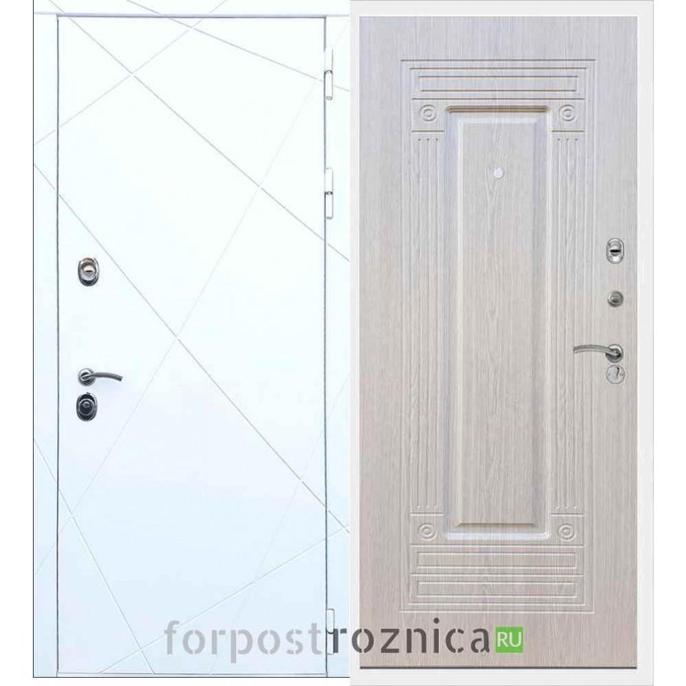 Входная дверь REX 13 ФЛ-4 Беленый дуб