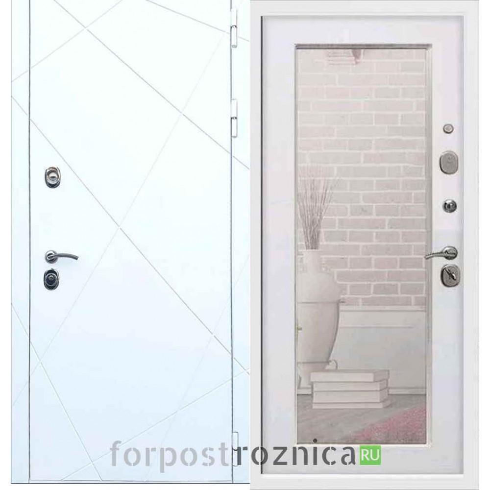 Входная дверь REX 13 Пастораль Белый ясень