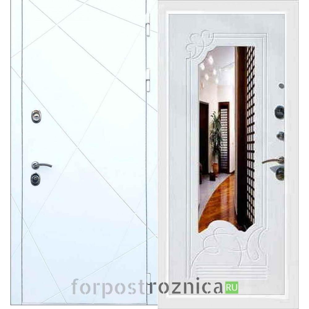 Входная дверь REX 13 ФЛЗ-147 Белый ясень