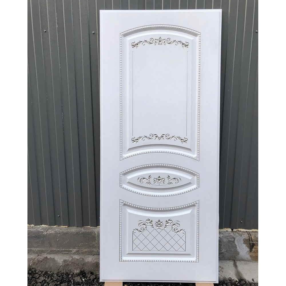 Входная дверь REX 13 Бетон ФЛ-316 белая патина серебро