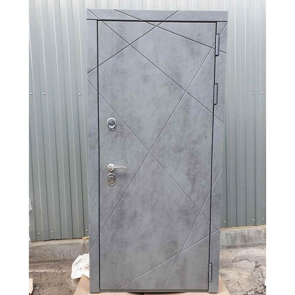 Входная дверь REX 13 Бетон ФЛ-291 силк сноу