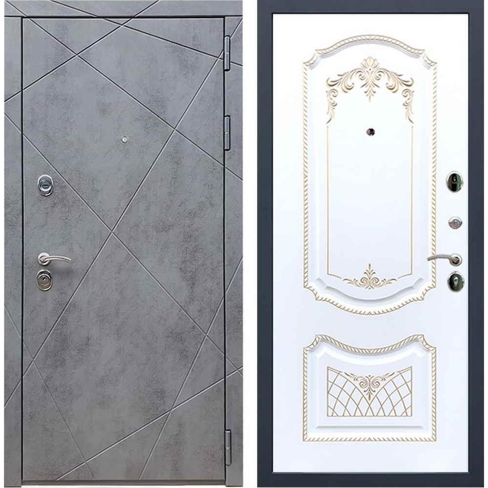 Входная дверь REX 13 Бетон ФЛ-316 патина золото