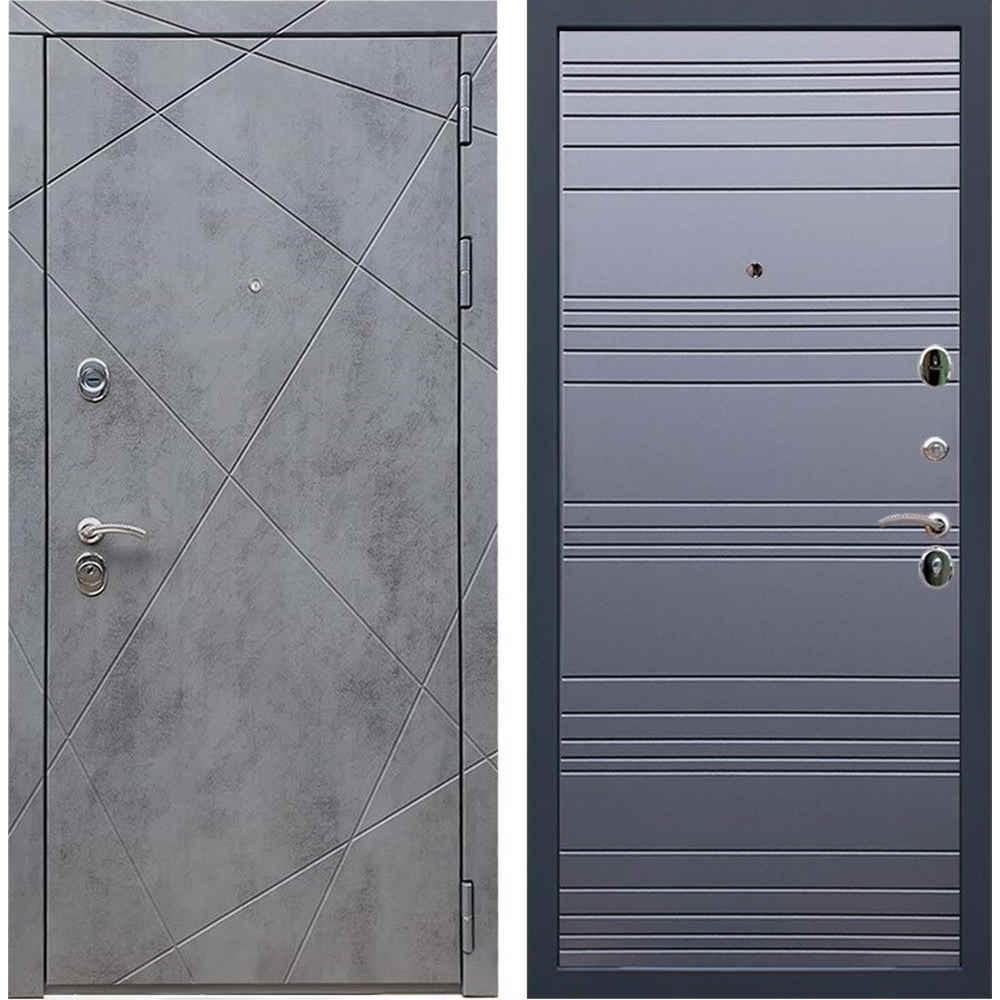 Входная дверь REX 13 Бетон ФЛ-14 Графит Софт