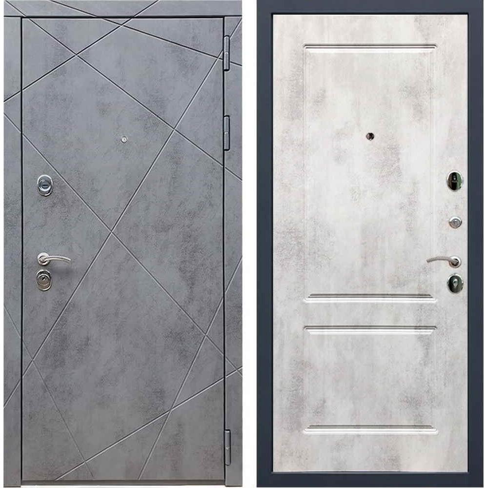Входная дверь REX 13 Бетон ФЛ-117 бетон светлый