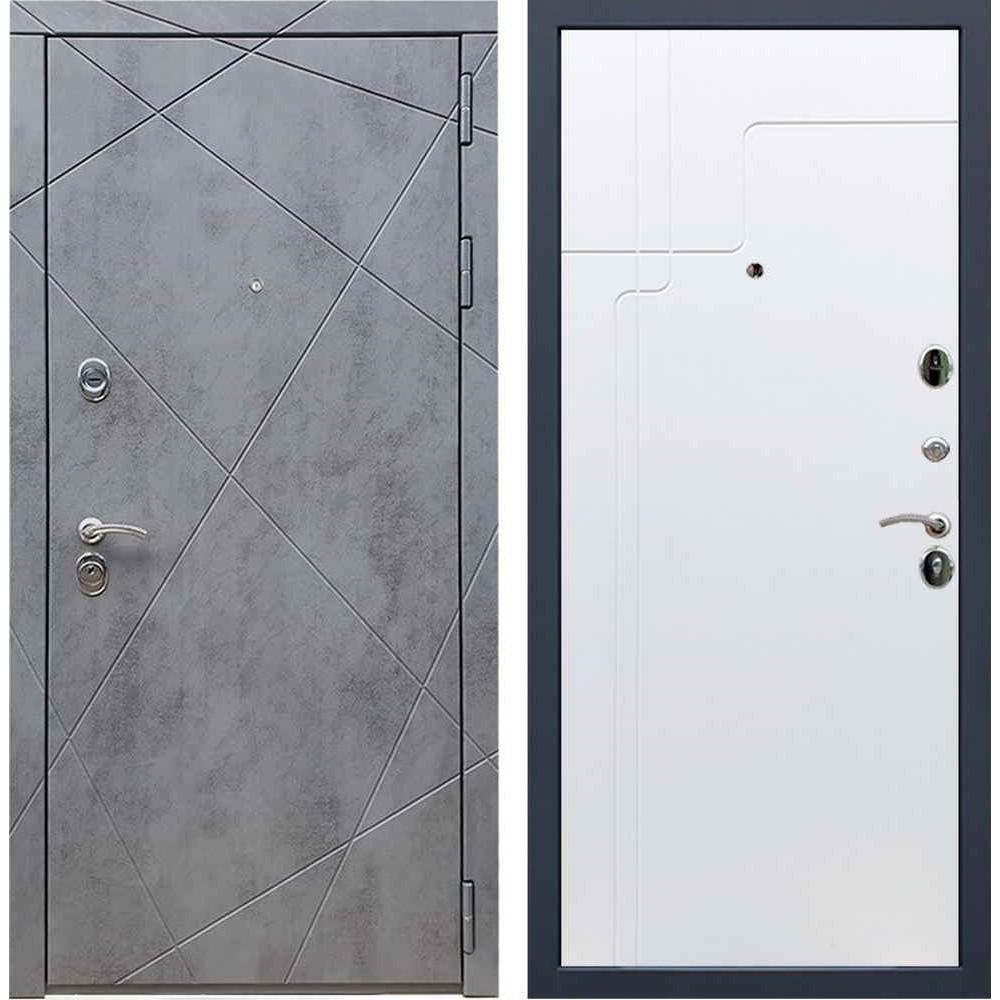Входная дверь REX 13 Бетон ФЛ-246 белый софт