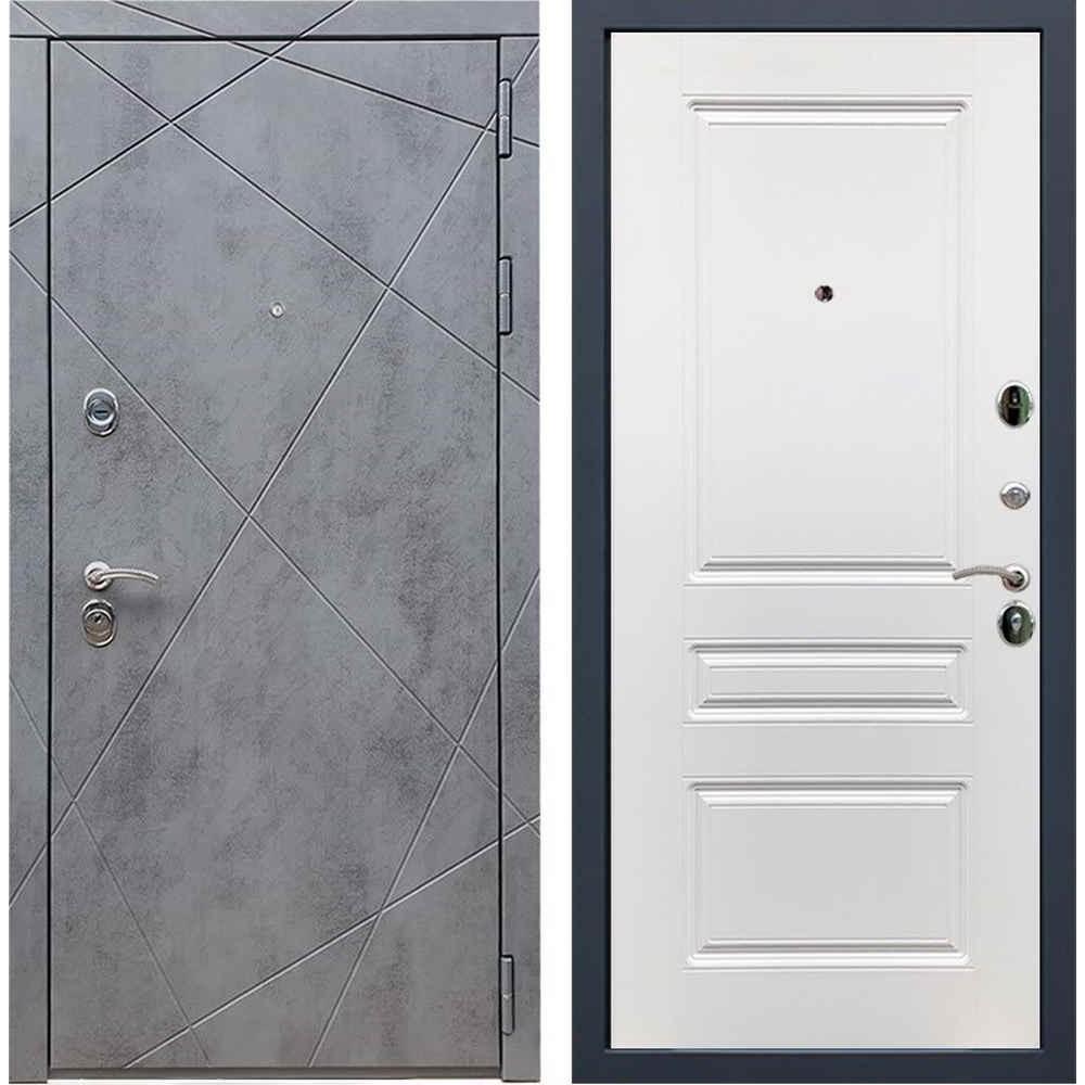 Входная дверь REX 13 Бетон ФЛ-243 силк сноу