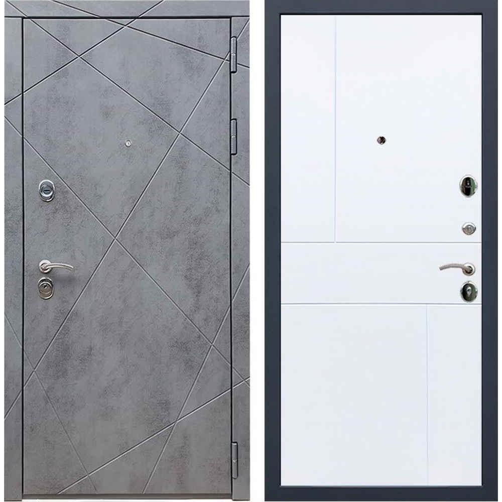 Входная дверь REX 13 Бетон ФЛ-290 белый софт