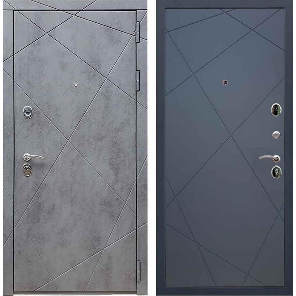 Входная дверь REX 13 Бетон ФЛ-291 силк титан