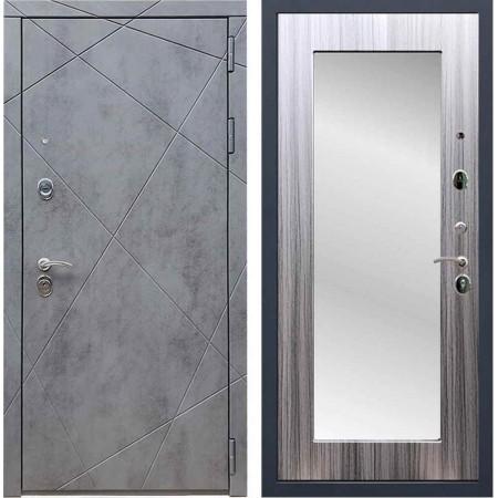 Входная дверь REX 13 Бетон пастораль сандал серый