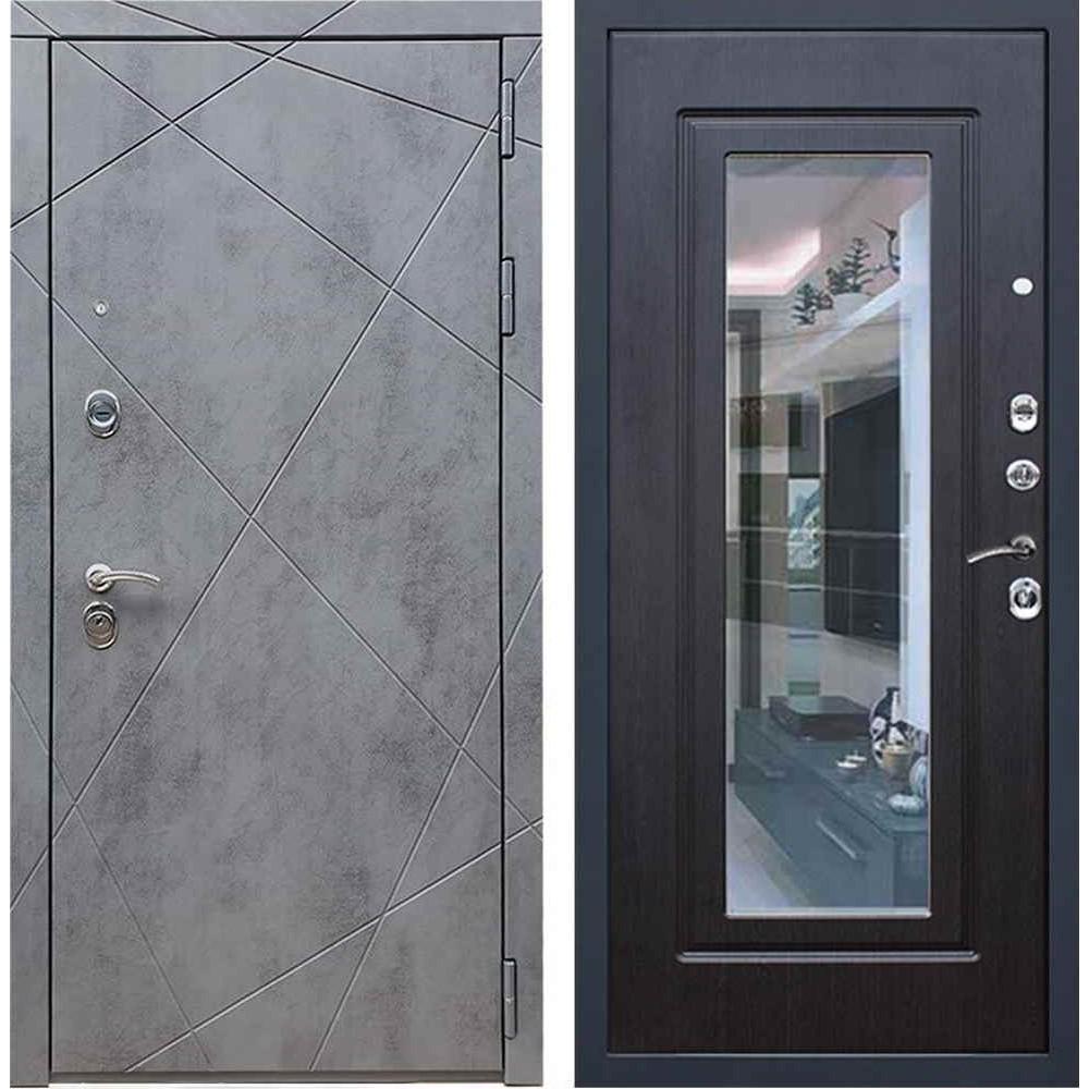 Входная дверь REX 13 Бетон ФЛЗ-120 венге