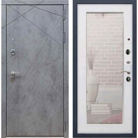 Входная дверь REX 13 Бетон пастораль белый ясень