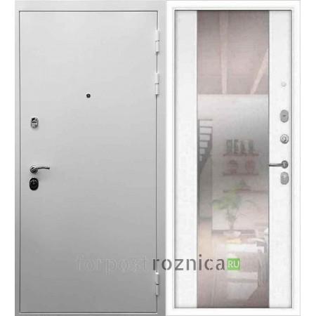 Входная дверь REX 5А Белая шагрень / СБ-16 Силк сноу (белая матовая)
