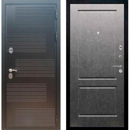 Входная металлическая дверь Рекс Премиум 185 ФЛ 117 Штукатурка графит