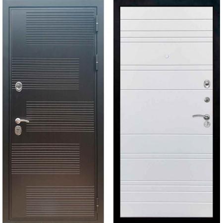 Входная металлическая дверь Рекс Премиум 185 Line Силк сноу